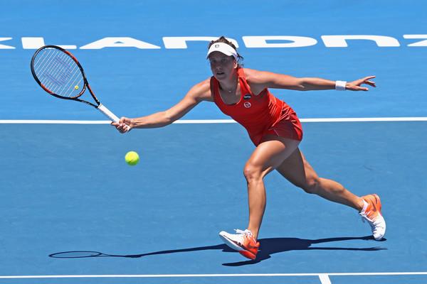 Barbora Strycova during her match against Lauren Davis. Photo Source : Getty Images/Phil Walter