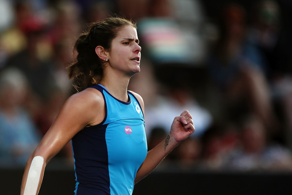 Julia Goerges during the match | Photo: Anthony Au-Yeung/Getty Images AsiaPac