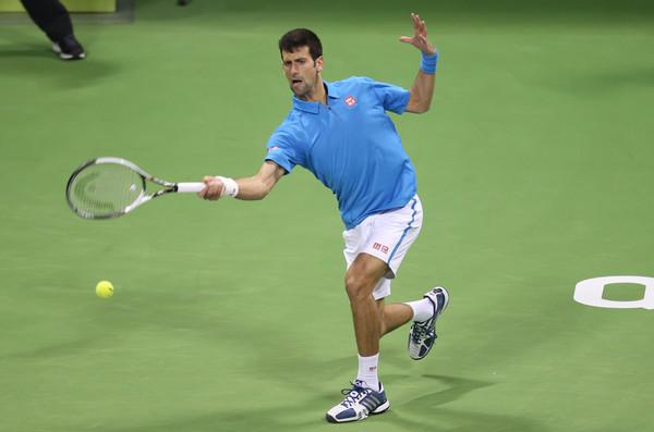 Djokovic in his semifinal match (Photo by AK BijuRaj/Getty Images)