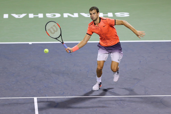 Dimitrov at the Shanghai Rolex Masters (Photo by Zhong Zhi/Getty Images)