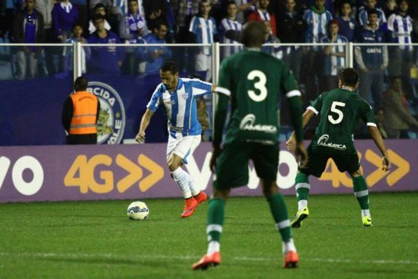 Avaí venceu as duas partidas na Série A 2015: na Ressacada, 2 a 1 (Foto: Jamira Furlani/Avaí FC)