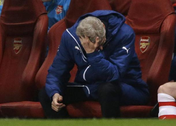 It's been a tough time recently for Wenger. | Image source: Metro