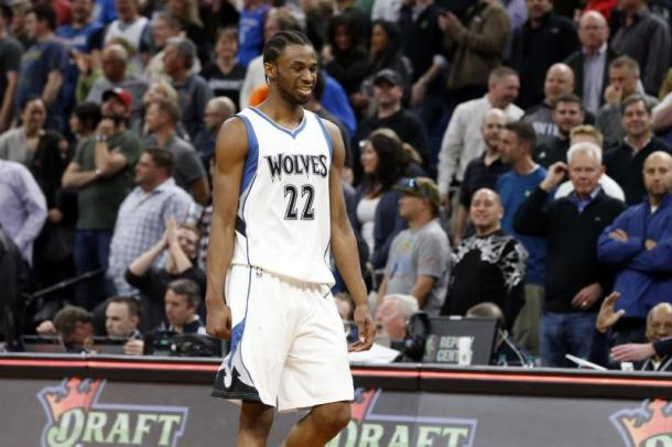 Watch out... Andrew Wiggins with Jimmy Butler and Karl-Anthony Towns will take the West by surprise. Photo: Jim Mone/Associated Press