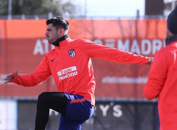 Morata puede estrenarse como titular mañana. Foto: Web oficial Atlético de Madrid.