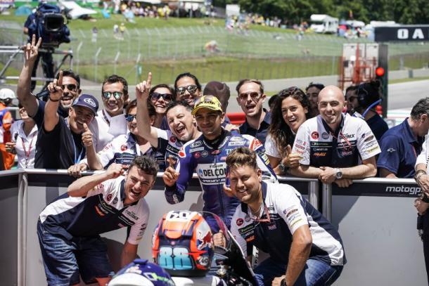 Jorge Martin en el parque cerrado del GP de Italia. Foto: Conca Gresini