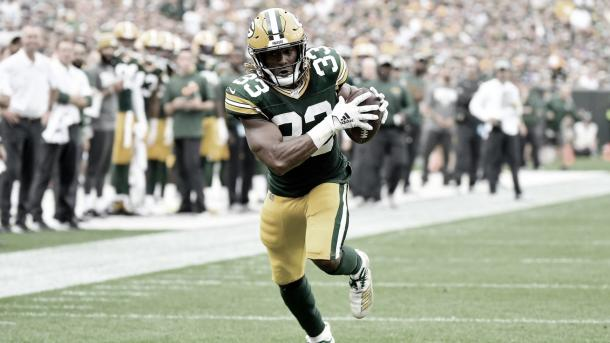 Los Packers tuvieron un gran inicio de temporada y Aaron Jones es la principal figura (Imagen: Packers.com)