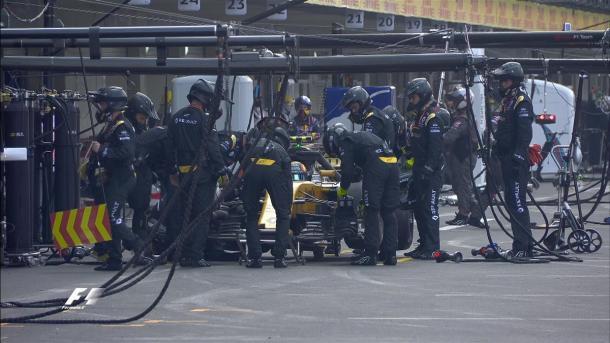 Abandono de Carlos Sainz en México. Foto: Twitter Fórmula 1 @F1
