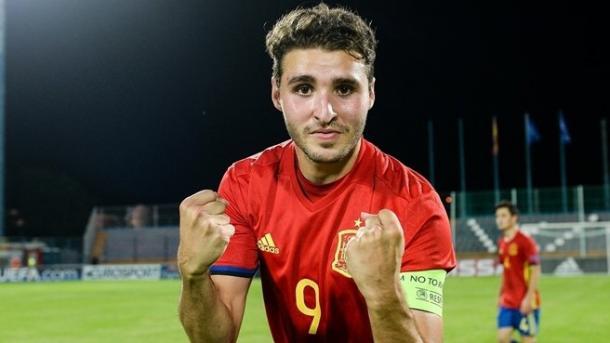 Abel Ruiz capitán de la sub-17 española | Foto: www.uefa.com