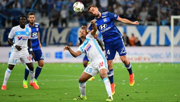 En la imagen, jugadores del Marsella y el Lyon  / Fuente: Olympique de Marsella