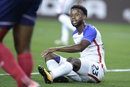 Acosta, seen here against Costa Rica, just recently started playing for the US Men's national team | Source: Brendan Smialowski - AFP/Getty Images