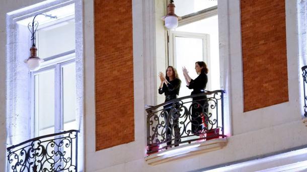 Aplauso sanitario en la Comunidad de Madrid Aplauso sanitario en la Comunidad de Madrid | Fuente: EFE