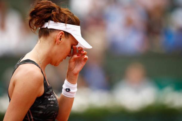 Agnieszka Radwanska during the French Open (Getty/Adam Pretty)