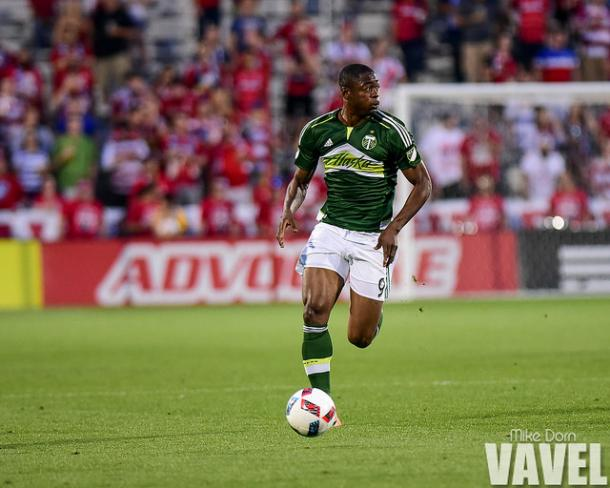 Fernando Adi in action for the Portland Timbers.