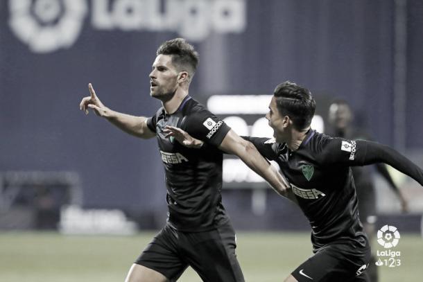 Adrián celebrando el gol | Foto: LaLiga