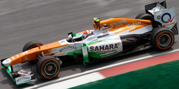 Adrian Sutil na Force India em 2013 (Foto: Reprodução/F1)