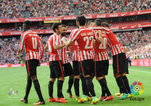 Athletic celebrate going 2-1 up | Photo: La Liga