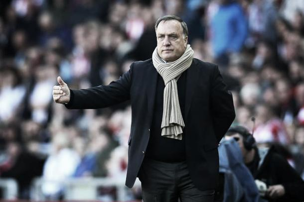Above: former Sunderland AFC manager Dick Advocaat was sacked after the 2-2 draw with West Ham United | Daily Star