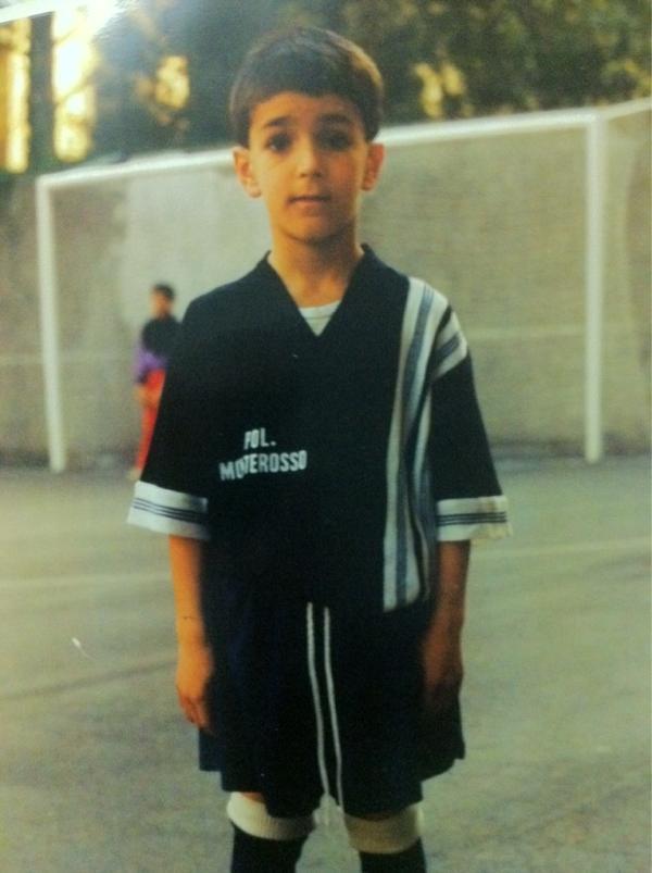 Foto del jugador cuando empezó a jugar. Vía: Twitter del jugador.