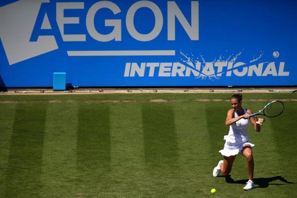 Karolina Pliskova hits a forehand | Photo: Charlie Crowhurst/Getty Images Europe