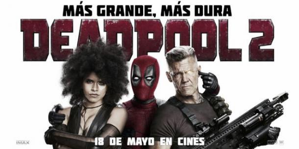 Afiche promocional Deadpool 2. Fotografía de Heavy Square