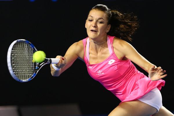 Agnieszka Radwanska plays a forehand during her Australian Open semifinal. Photo: Quinn Rooney/Getty Images