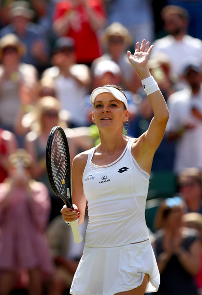 Agnieszka Radwanska celebrates her win over Timea Bacsinszky | Photo: Clive Brunskill/Getty Images Europe