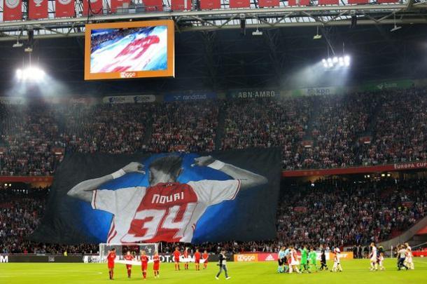 Tifo de Nouri en el Amsterdam Arena / Fuente: Morocco World News