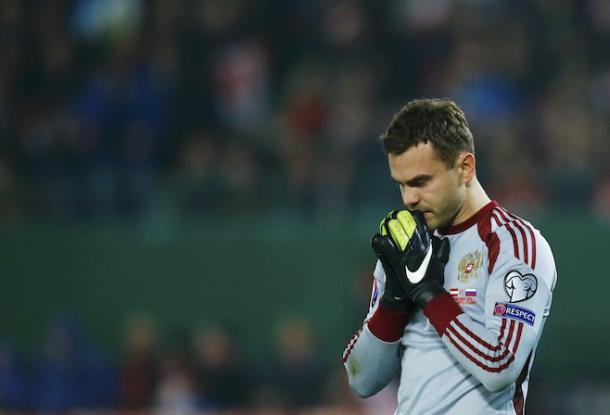 Igor Akinfeev is Russia's Mr Reliable, he will favour himself against any team (Photo: Getty Images)