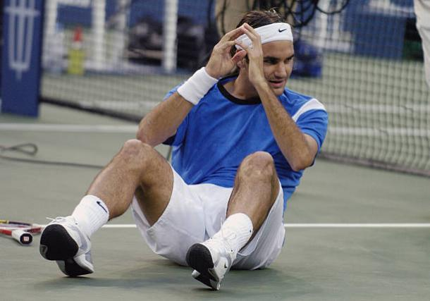 Federer celebrates his first US Open triumph in 2004 (Getty/Al Messerschmidt)