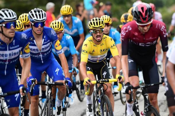 Alaphilippe cedió el maillot amarillo en el Col de L'Iseran. | Foto: LeTour