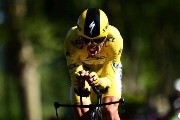 Alaphilippe, vencedor de la crono y centenario maillot amarillo. | Foto: LeTour