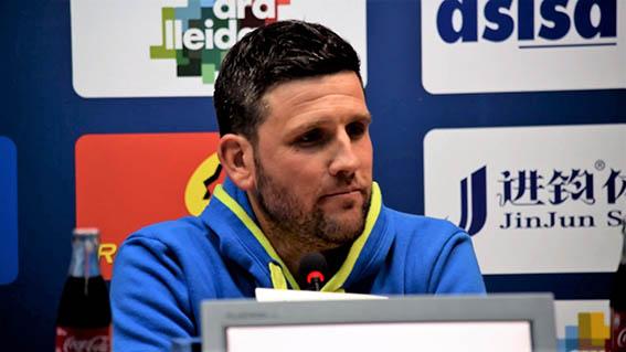 Albadalejo, en una rueda de prensa | Foto: Lleida Esportiu