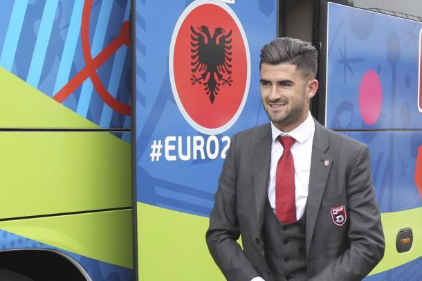 Hysaj, uno dei più rappresentativi dell'Albania, twitter @EURO2016