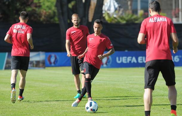 Albania during their training camp | Photo: UEFA