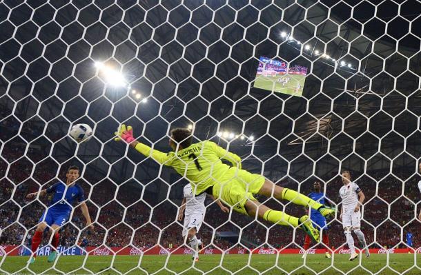 Un momento della partita, twitter @UEFAEURO