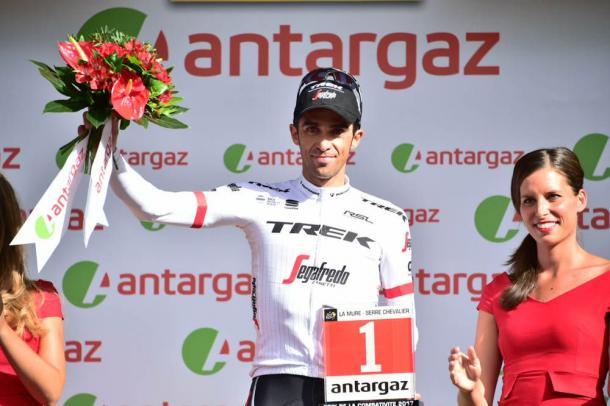 Panache Alberto Contador, espectacular y valiente en los Alpes. | Foto: TDF