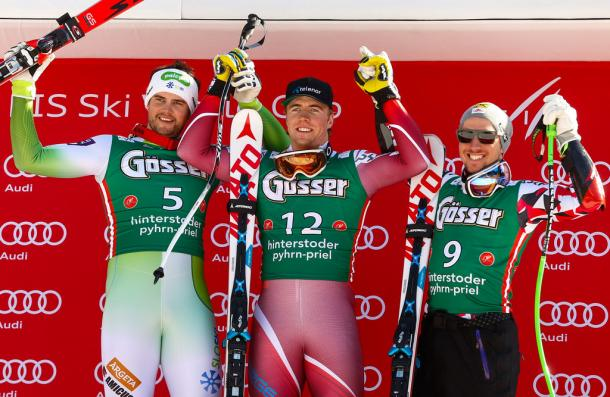 Happy winners on the podium Source: Stanko Gruden/Agence Zoom/Getty Images Europe