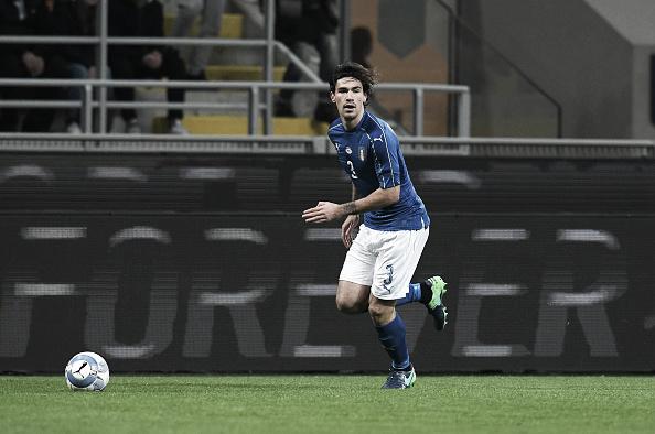 Titular diante da Alemanha, Romagnoli não disputou o segundo tempo (Foto: Claudio Villa/Getty Images)