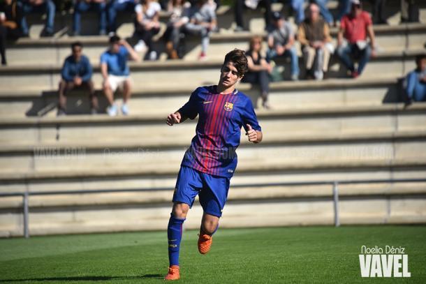 Alex Collado con el FCB Juvenil A. Foto: Noelia Déniz, VAVEL