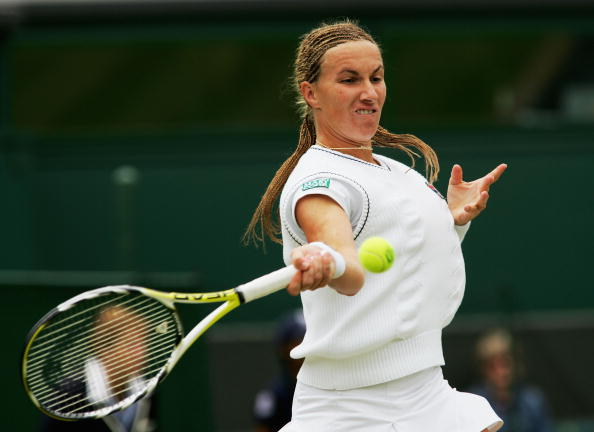 Svetlana Kuznetsova in action at Wimbledon back in 2007 (Getty/Alex Livesey)
