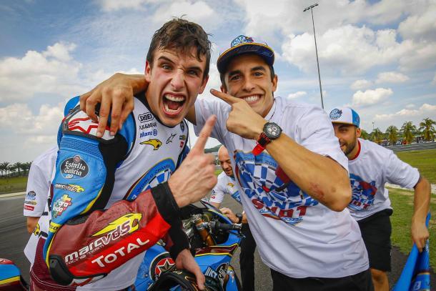 Álex y Marc Márquez en el Gran Premio de Malasia. | Fuente: MotoGP