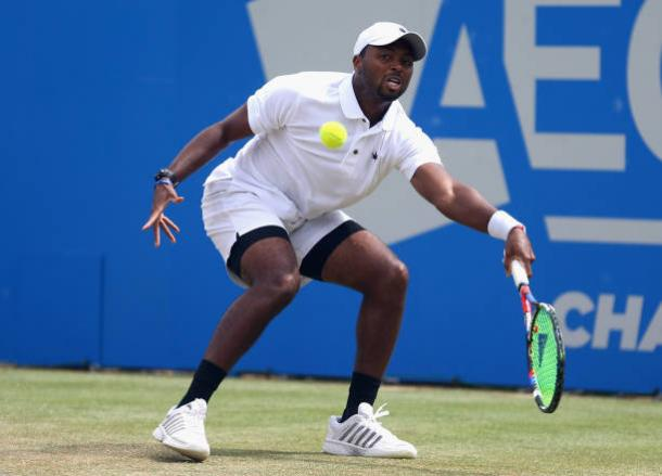 Donald Young could do very little to break down his opponent's serve today (Getty/Alex Pantling)