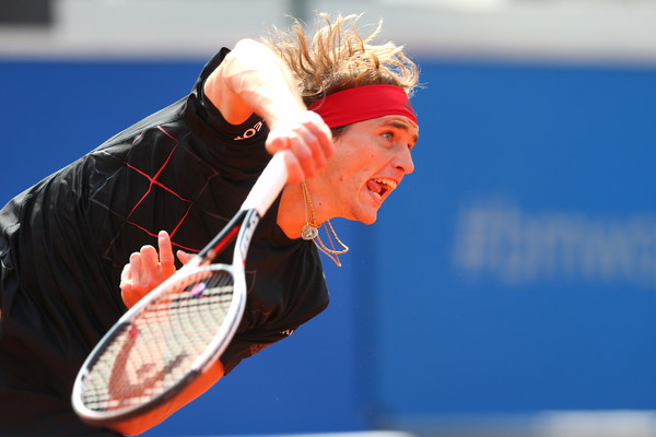 Photo Source: Alexander Hassenstein/Getty Images Europe-Alexander Zverev serves his way to victory.