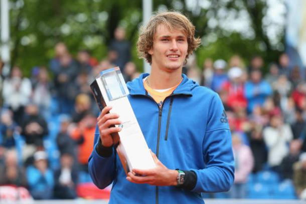 Alexander Zverev after winning the title in Munich (Getty/Alexander Hassenstein)