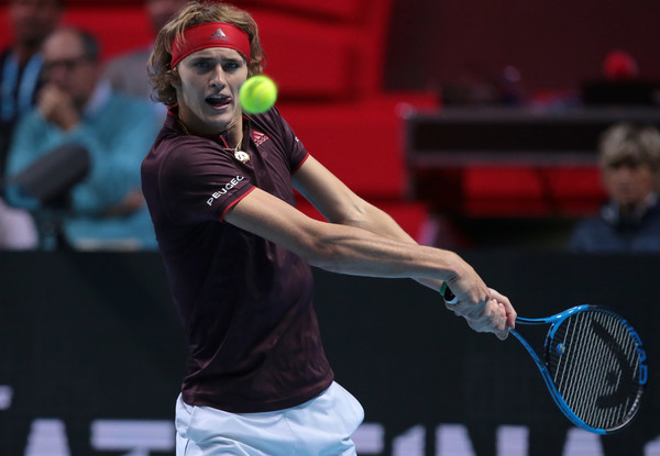 Alexander Zverev in action during the NextGen ATP Finals, where he played an exhibition match despite withdrawing from the competition | Photo: Emilio Andreoli/Getty Images Europe