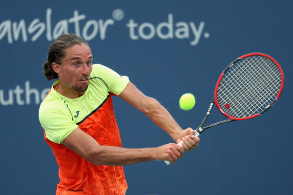 Dolgopolov in action at the Western and Southern Open (Photo: Rob Carr/Getty Images North America)