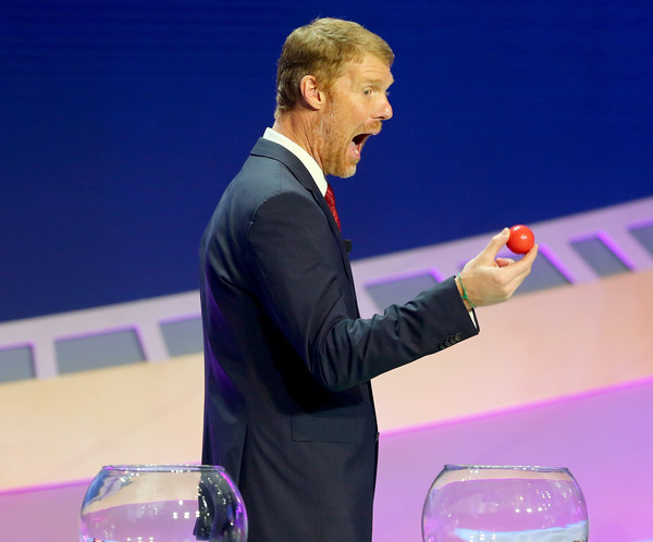 Lalas was a draw assistant Sunday in New York, and he provided some comedy as he drew the United States' ball to confirm their Group A placement.