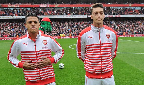 Sanchez ed Ozil. | Fonte immagine: Daily Star