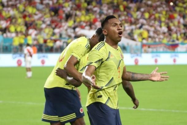 Alfredo Morelos en su primera actuación con la selección Colombia | Foto: Caracol