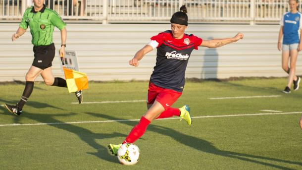 Spirit's captain Ali Krieger has been the leader of the back line that has only allowed one goal in three games this season. Photo provided by Chris Colvin